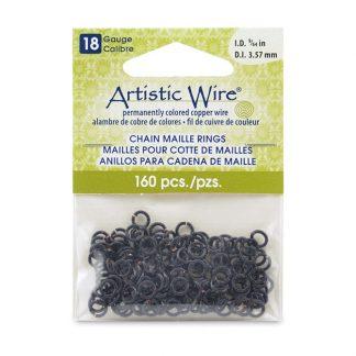 Met de Chain Maille ringetjes van Artistic Wire kunnen de mooiste projecten met ringetjes gemaakt worden en is te koop bij kralenwinkel Limited Edition in de kleur black in de maat 18 gauge 3.57mm.