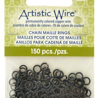 Met de Chain Maille ringetjes van Artistic Wire kunnen de mooiste projecten met ringetjes gemaakt worden en is te koop bij kralenwinkel Limited Edition in de kleur black in de maat 18 gauge 4.37mm.