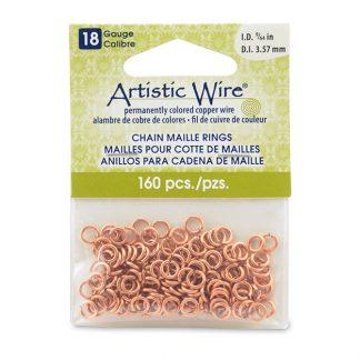 Met de Chain Maille ringetjes van Artistic Wire kunnen de mooiste projecten met ringetjes gemaakt worden en is te koop bij kralenwinkel Limited Edition in de kleur natural in de maat 18 gauge 3.57mm.