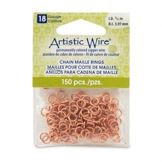 Met de Chain Maille ringetjes van Artistic Wire kunnen de mooiste projecten met ringetjes gemaakt worden en is te koop bij kralenwinkel Limited Edition in de kleur natural in de maat 18 gauge 3.97mm.