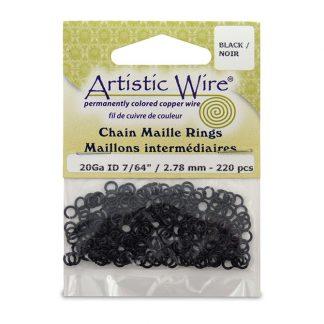 Met de Chain Maille ringetjes van Artistic Wire kunnen de mooiste projecten met ringetjes gemaakt worden en is te koop bij kralenwinkel Limited Edition in de kleur black in de maat 20 gauge 2.78mm.