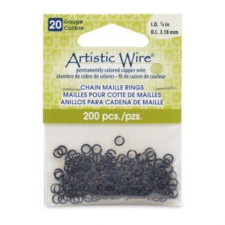 Met de Chain Maille ringetjes van Artistic Wire kunnen de mooiste projecten met ringetjes gemaakt worden en is te koop bij kralenwinkel Limited Edition in de kleur black in de maat 20 gauge 3.18mm.