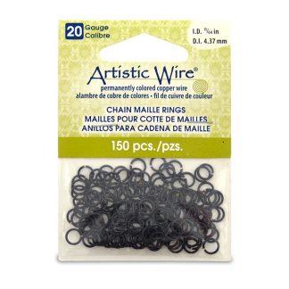 Met de Chain Maille ringetjes van Artistic Wire kunnen de mooiste projecten met ringetjes gemaakt worden en is te koop bij kralenwinkel Limited Edition in de kleur black in de maat 20 gauge 4.37mm.