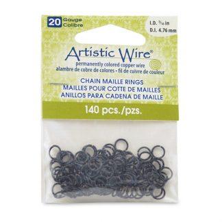 Met de Chain Maille ringetjes van Artistic Wire kunnen de mooiste projecten met ringetjes gemaakt worden en is te koop bij kralenwinkel Limited Edition in de kleur black in de maat 20 gauge 4.76mm.