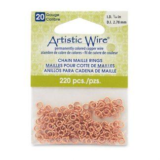 Met de Chain Maille ringetjes van Artistic Wire kunnen de mooiste projecten met ringetjes gemaakt worden en is te koop bij kralenwinkel Limited Edition in de kleur natural in de maat 20 gauge 2.78mm.