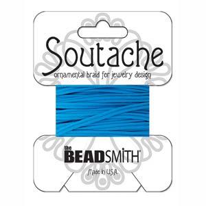 Dit 3mm Soutache koord van Beadsmith word op kaartjes verkocht bij kralenwinkel Limited Edition in Den Haag in de kleur Peacock.