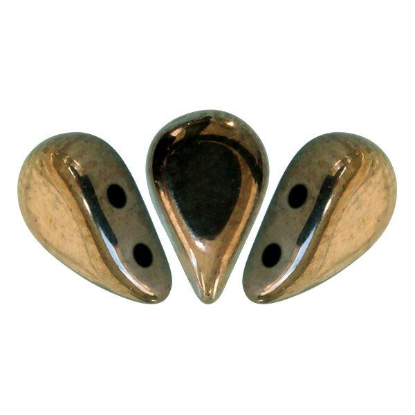 De Amos® par Puca® van het merk les Perles par Puca® is te koop bij kralenwinkel Limited Edition in Den Haag in de kleur Dark Gold Bronze.