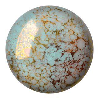 De Cabochons par Puca® van het merk les Perles par Puca® is te koop bij kralenwinkel Limited Edition in Den Haag in de kleur Opaque Aqua Bronze.