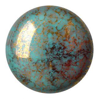 De Cabochons par Puca® van het merk les Perles par Puca® is te koop bij kralenwinkel Limited Edition in Den Haag in de kleur Opaque Blue Turquoise Bronze.