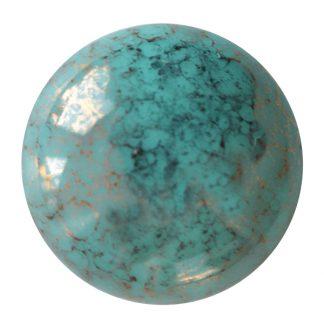 De Cabochons par Puca® van het merk les Perles par Puca® is te koop bij kralenwinkel Limited Edition in Den Haag in de kleur Opaque Green Turquoise Bronze.