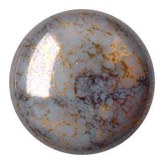 De Cabochons par Puca® van het merk les Perles par Puca® is te koop bij kralenwinkel Limited Edition in Den Haag in de kleur Opaque Grey Bronze.