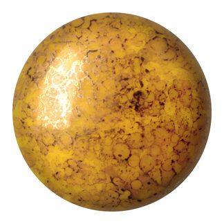De Cabochons par Puca® van het merk les Perles par Puca® is te koop bij kralenwinkel Limited Edition in Den Haag in de kleur Opaque Jonquil Bronze.