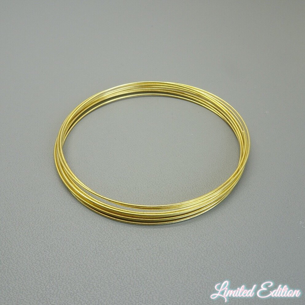 Memory wire bracelet: gold - Limited Edition