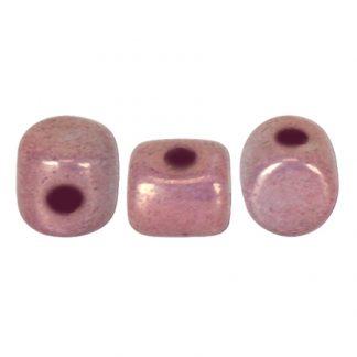 De Minos® par Puca® van het merk les Perles par Puca® is te koop bij kralenwinkel Limited Edition in Den Haag in de kleur Opaque Mix Violet Gold Ceramic Look.