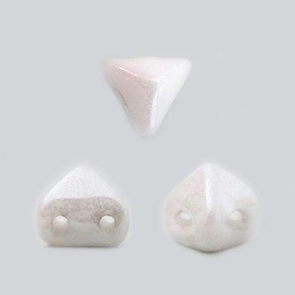 De Super-Khéops® par Puca® van het merk les Perles par Puca® is te koop bij kralenwinkel Limited Edition in Den Haag in de kleur Opaque White Ceramic Look.