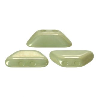 De Tinos® par Puca® van het merk les Perles par Puca® is te koop bij kralenwinkel Limited Edition in Den Haag in de kleur Opaque Light Green Ceramic Look.