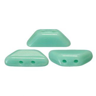 De Tinos® par Puca® van het merk les Perles par Puca® is te koop bij kralenwinkel Limited Edition in Den Haag in de kleur Opaque Green Turquoise.