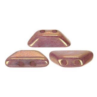 De Tinos® par Puca® van het merk les Perles par Puca® is te koop bij kralenwinkel Limited Edition in Den Haag in de kleur Opaque Mix Violet Gold Ceramic Look.