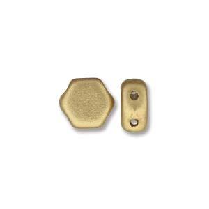 De Honeycomb is een zeshoekige kraal met twee gaten die leuk te gebruiken is in patroontjes en is te koop bij kralenwinkel Limited Edition in Den Haag in de kleur 00030-01710.
