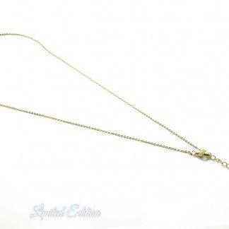 Deze gold filled ketting is 45cm lang en is te koop bij kralenwinkel Limited Edition Den Haag.