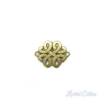 Dit DQ tussenstuk in de vorm van een Keltische knoop is te koop bij kralenwinkel Limited Edition in Den Haag in de kleur brons.