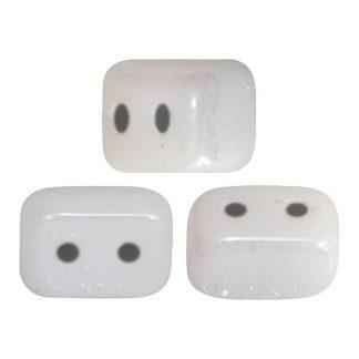 De Ios® par Puca® van het merk les Perles par Puca® is te koop bij kralenwinkel Limited Edition in Den Haag in de kleur Opaque White Ceramic Look.