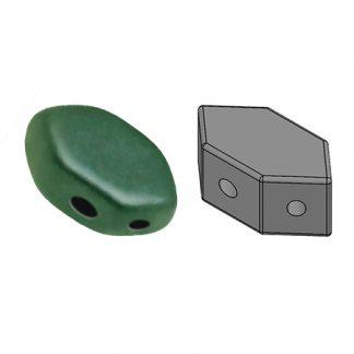 De Paros® par Puca® van het merk les Perles par Puca® is te koop bij kralenwinkel Limited Edition in Den Haag in de kleur Opaque Mat Green Turquoise.