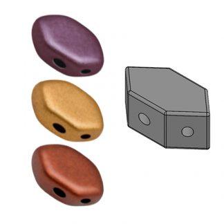 De Paros® par Puca® van het merk les Perles par Puca® is te koop bij kralenwinkel Limited Edition in Den Haag in de kleur Yellow Gold Metallic Iris.
