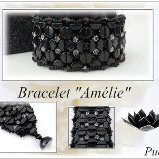 Het gratis rijgpatroon 'Amélie armband' is te vinden bij kralenwinkel Limited Edition in Den Haag.