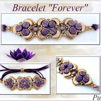Het gratis rijgpatroon 'Forever armband' is te vinden bij kralenwinkel Limited Edition in Den Haag.