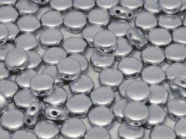 De Discduo® bead is een platte ronde kraal van 6x4mm met twee gaatjes en is te koop bij kralenwinkel Limited Edition in Den Haag in de kleur Aluminium Silver.
