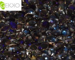 De gekko glaskraal is leuk om te gebruiken in sieraad patronen en is te koop bij kralenwinkel Limited Edition in Den Haag in de kleur 00030/22201.