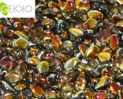 De gekko glaskraal is leuk om te gebruiken in sieraad patronen en is te koop bij kralenwinkel Limited Edition in Den Haag in de kleur 00030/28001.