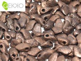 De gekko glaskraal is leuk om te gebruiken in sieraad patronen en is te koop bij kralenwinkel Limited Edition in Den Haag in de kleur 23980-14415 Etched.