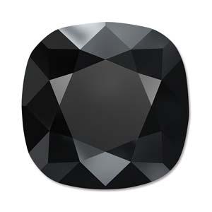 Deze vierkante swarovksi steen is te koop bij kralenwinkel Limited Edition in de kleur Jet.