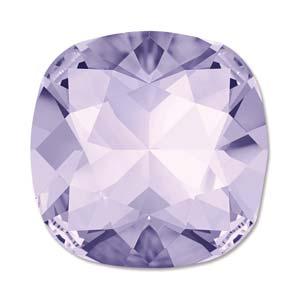 Deze vierkante swarovksi steen is te koop bij kralenwinkel Limited Edition in de kleur Violet Foiled.