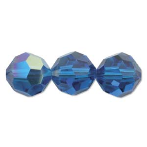 De Swarovski 5000 kraal is te koop bij kralenwinkel Limited Edition in de maat 8mm in de kleur Blue Capri AB.