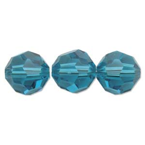 De Swarovski 5000 kraal is te koop bij kralenwinkel Limited Edition in de maat 8mm in de kleur Blue Zircon.