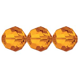 De Swarovski 5000 kraal is te koop bij kralenwinkel Limited Edition in de maat 8mm in de kleur Tangerine.