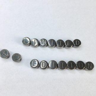 DQ alphabet 7mm Antracite