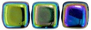 De Tile Bead van het merk CzechMates is 6mm en leuk te combineren met andere two hole beads en is te koop bij kralenwinkel Limited Edition in Den Haag in de kleur XX2398.