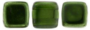 De Tile Bead van het merk CzechMates is 6mm en leuk te combineren met andere two hole beads en is te koop bij kralenwinkel Limited Edition in Den Haag in de kleur K5507.