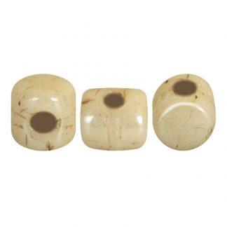 De Minos® par Puca® van het merk les Perles par Puca® is te koop bij kralenwinkel Limited Edition in Den Haag in de kleur Opaque Beige Ceramic Look.