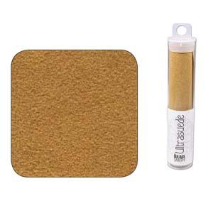 UltraSuede is perfect om te gebruiken om een zachtere onderlaag aan een embroidery werkje te geven en is te koop bij kralenwinkel Limited Edition in Den Haag in de kleur Light Amber Gold.