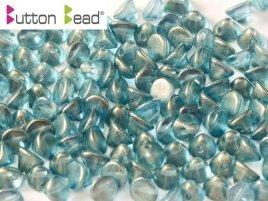 De Button glas bead heeft een platte kant en een kant die spits toeloopt en heeft 1 gat en is te koop bij kralenwinkel Limited Edition in Den Haag in de kleur 00030-29263.