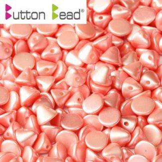 De Button glas bead heeft een platte kant en een kant die spits toeloopt en heeft 1 gat en is te koop bij kralenwinkel Limited Edition in Den Haag in de kleur 02010-25007.