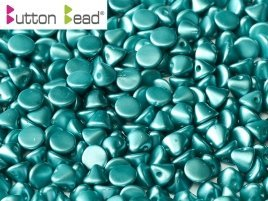 De Button glas bead heeft een platte kant en een kant die spits toeloopt en heeft 1 gat en is te koop bij kralenwinkel Limited Edition in Den Haag in de kleur 02010-25043.