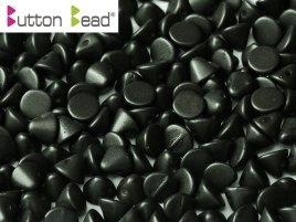 De Button glas bead heeft een platte kant en een kant die spits toeloopt en heeft 1 gat en is te koop bij kralenwinkel Limited Edition in Den Haag in de kleur 02010-29400.