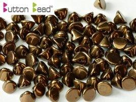 De Button glas bead heeft een platte kant en een kant die spits toeloopt en heeft 1 gat en is te koop bij kralenwinkel Limited Edition in Den Haag in de kleur 23980-14415.