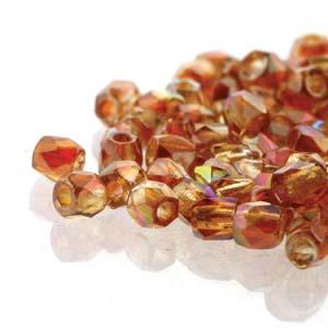 De glazen Fire Polished 2mm beads worden veel gebruikt in sieraden patronen en zijn te koop bij kralenwinkel Limited Edition in Den Haag in de kleur 00030/98535.